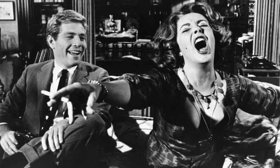 George Segal with Elizabeth Taylor in Who's Afraid of Virginia Woolf?