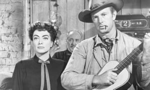 Joan Crawford and Sterling Hayden in Johnny Guitar