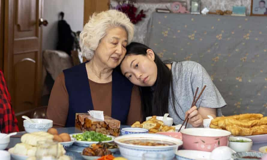 Sewn up: Zhao Shuzhen, left, and Awkwafina in The Farewell.