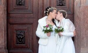 A lesbian wedding