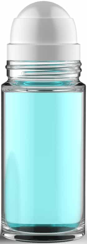 Roll-on deodorant bottle