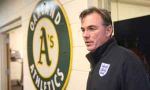 Three Lions on Oakland A's GM Billy Beane's chest, one for each early-round loss in the playoffs over the past three seasons.