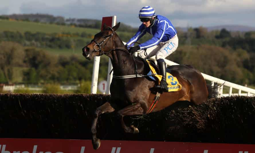 Paul Townend rides Energumene to an impressive victory in the Grade One Ryanair Novice Chase at Punchestown.