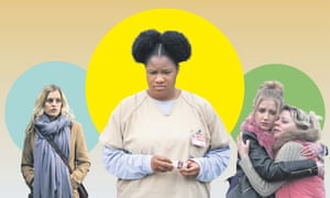 Paula (Denise Gough) in Paula, Black Cindy (Adrienne C Moore) in Orange Is the New Black and Missy Booth (Poppy Lee Friar) and Simone Booth (Samantha Power) in Ackley Bridge