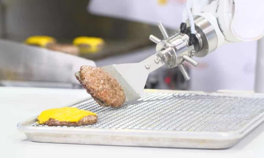 Hamburger-cooking robots in Los Angeles.