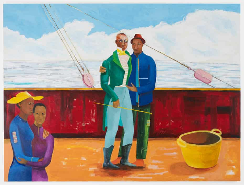 The Captain and the Mate, 2017-2018 by Lubaina Himid, from Mixing It Up: Painting Today at the Hayward Gallery