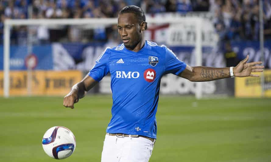 Didier Drogba in his new Montreal jersey.