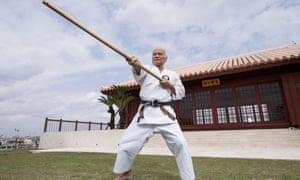 A karate master at Karate Kaikan, Okinawa.