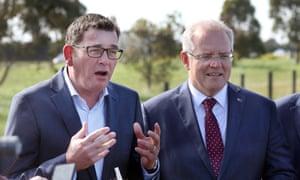 Victorian premier Daniel Andrews and Australian prime minister Scott Morrison
