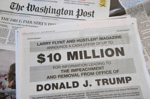 a full page ad in the washington post offers 10m from hustler publisher