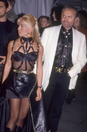 Donatella and Gianni Versace wore co-ordinated outfits in 1996. A few months later, Gianni was dead – the 1997 gala was held in his honour.