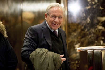 Woodward arrives at Trump Tower in 2017.