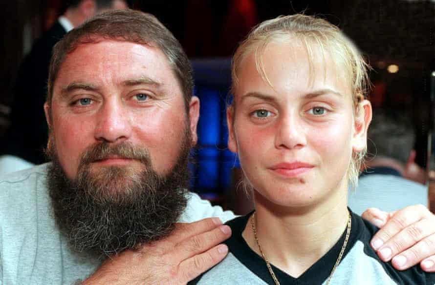 Jelena Dokic with her father Damir