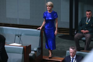 Julie Bishop after Josh Frydenberg delivered the 2019 Budget in the house of representatives chamber of Parliament House, Canberra this evening.