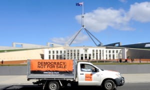 GetUp insists it receives almost no foreign funding, with only 0.5% of donations over its lifetime coming from overseas.