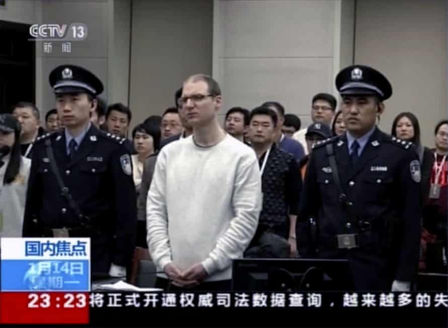 Canadian Robert Lloyd Schellenberg attends retrial in Dalian, northeast China, 2019
