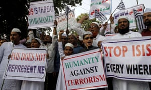 Muslims in India protest against Islamic State