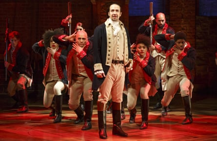 Hip-hop show Hamilton is 'Shakespearean in a lot of ways'. Photograph: Joan Marcus/The Public Theater/AP
