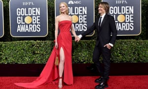Nicole Kidman and Keith Urban at the 77th Annual Golden Globe Awards in January, 2020.