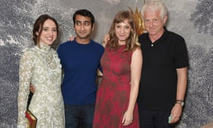 Zoe Kazan, Kumail Nanjiani, Emily V Gordon and Richard Curtis, writer of Four Weddings and a Funeral, a special screening of The Big Sick in London.