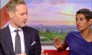 Dan Walker and Naga Munchetty on BBC Breakfast