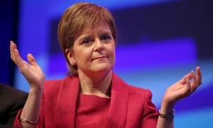Scotland's first minister Nicola Sturgeon at the SNP's 2017 conference