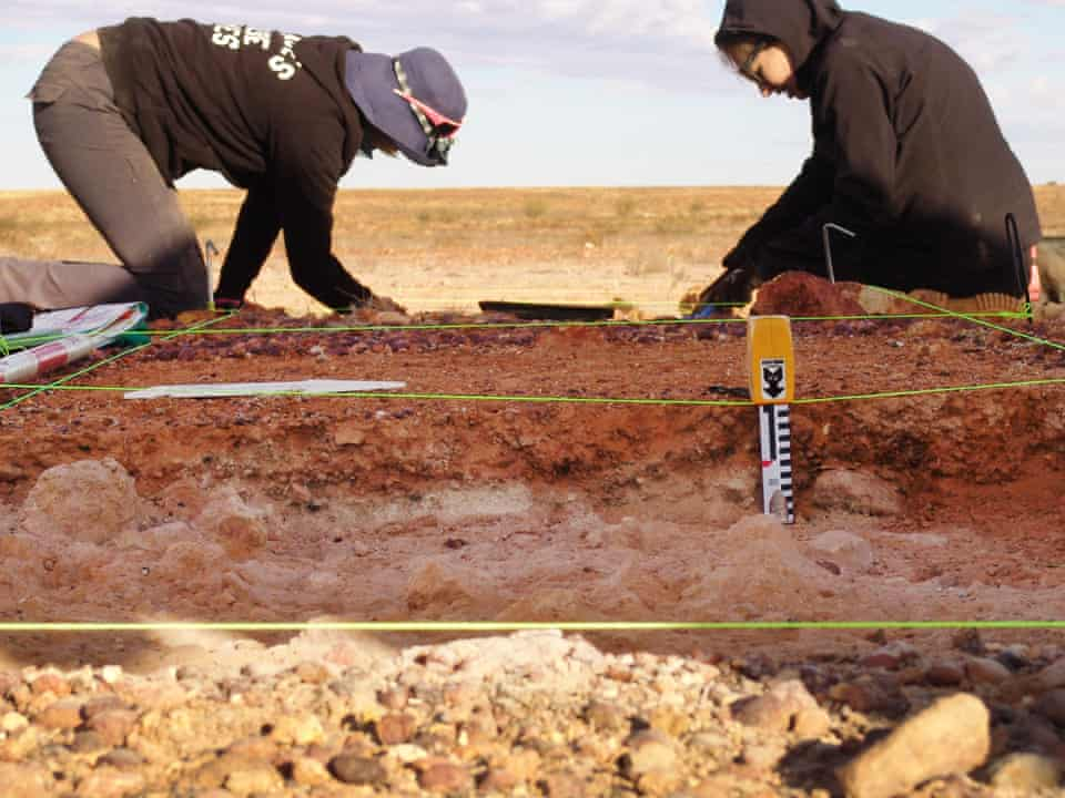 An excavation at Boulia native police camp, central Queensland, Australia.