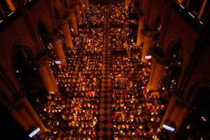 An Easter vigil in the cathedral
