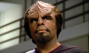 Lieutenant Worf in a scene from the final episode of the television series Star Trek