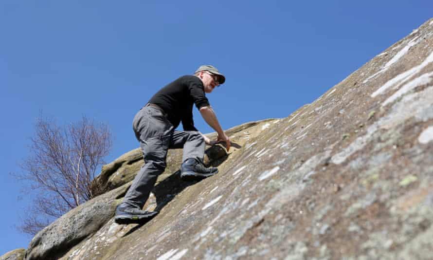 The writer on Brimham Rocks, north Yorkshire.