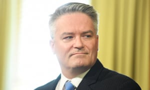 The Minister for Finance Mathias Cormann looks on during a press conference at the Commonwealth Parliamentary offices, Melbourne, Thursday, May 16, 2019. (AAP Image/James Ross) NO ARCHIVING