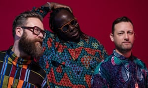 Dave Okumu (centre) with the Invisible.