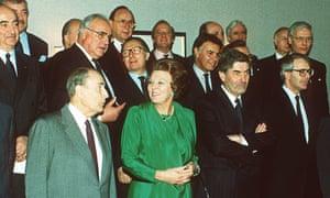 John Major, far right, at Masstricht in 1991.