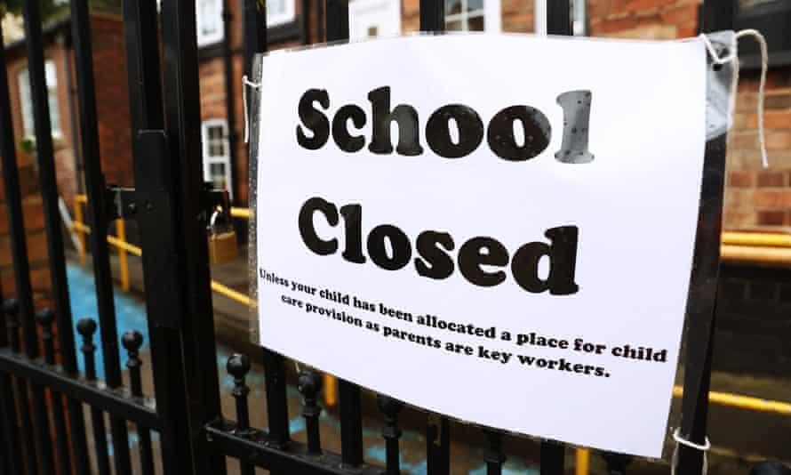 A sign outside a closed school in West Bridgford, Nottingham.