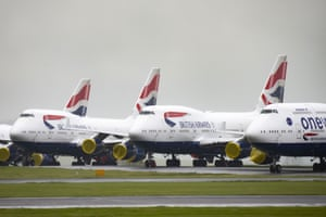 British Airways branded aircraft grounded at Cardiff airport