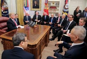 Trump meets Chinese vice premier Liu He