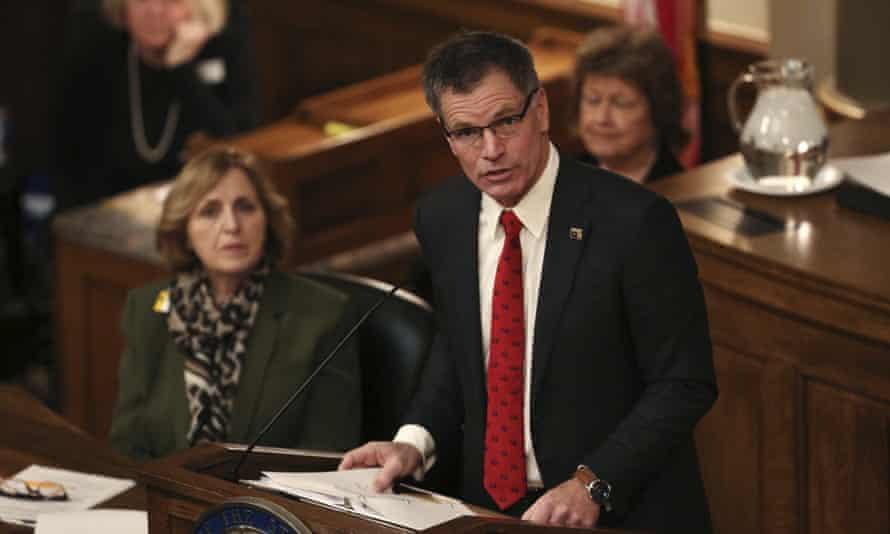 The Wyoming governor, Mark Gordon.