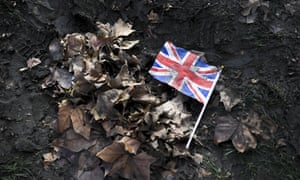 Union jack on the ground