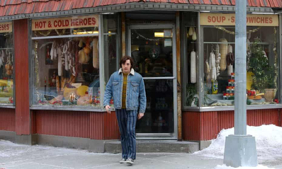 Michael Gandolfini filming The Many Saints of Newark.