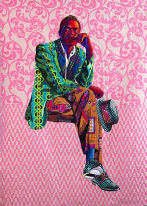 I Am Not Your Negro by textile artist Bisa Butler.