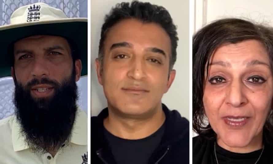 Moeen Ali, Adil Ray and Meera Syal
