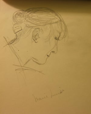 Marie Louise Lallemand, sketched by E.E. Cummings.