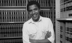 Barack Obama as a student at Harvard law school in 1990. 'The campus was a place that was politically divided at the time.'