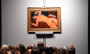 Amedeo Modigliani's 'Nu couche' on display at Christie's, New York, in 2015.