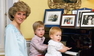 Diana with her sons