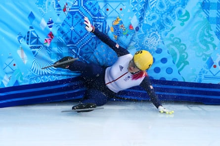 Elise Christie crashes out of the 1,000m semi-finals in Sochi