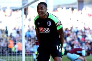 Wilson celebrates scoring the winner for The Cherries.