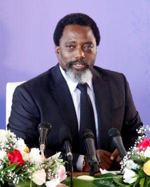 Joseph Kabila in Kinshasa in January