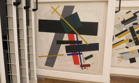 Suprematism 1915-16, by Kazimir Malevich.