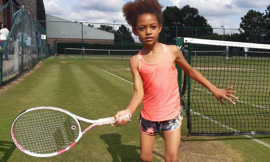 Chanel Boreland swings racket
